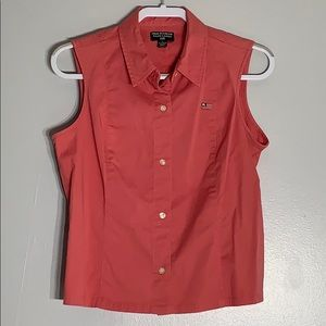 Polo Jeans Ralph Lauren Sleeveless Button Down Top